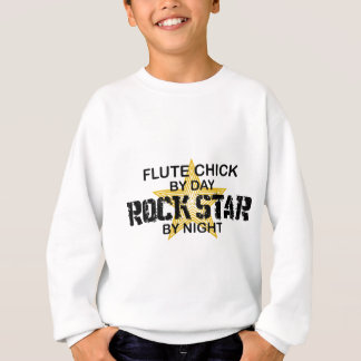 Flute Chick Rock Star by Night Sweatshirt
