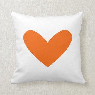 Flutter Hearts Orange Pillow Throw Cushions