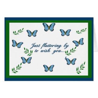 Fluttering Butterflies Get Well Card