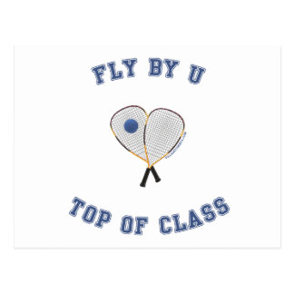 Fly By U Racquetball Postcard