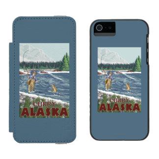 Fly Fisherman - Curry, Alaska Incipio Watson™ iPhone 5 Wallet Case