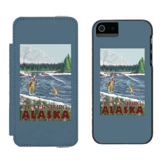 Fly Fisherman - Petersburg, Alaska Incipio Watson™ iPhone 5 Wallet Case