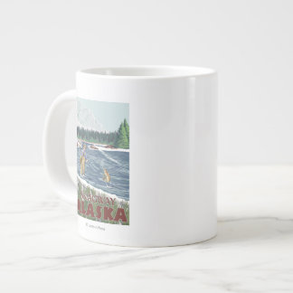 Fly Fisherman - Skagway, Alaska Large Coffee Mug
