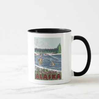 Fly Fisherman - Skagway, Alaska Mug