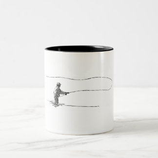 Fly fisherman Two-Tone mug