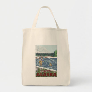 Fly Fisherman - Yukon, Alaska Tote Bag