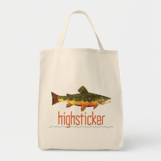 Fly Fishing Highsticker Tote Bag