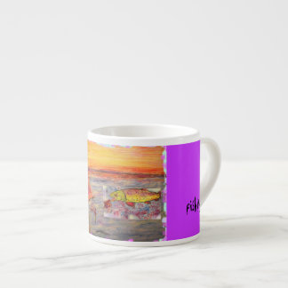 fly fishing 6 oz ceramic espresso cup
