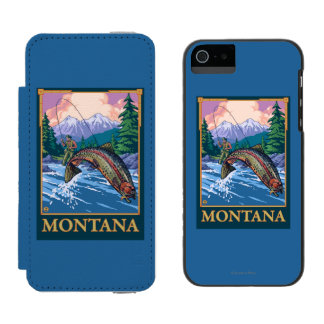 Fly Fishing Scene - Montana Incipio Watson™ iPhone 5 Wallet Case