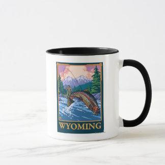 Fly Fishing Scene - Wyoming Mug
