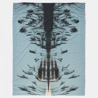 """Fly free"" Abstract Fleece Blanket"
