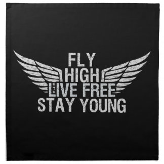 FLY HIGH custom cloth napkins