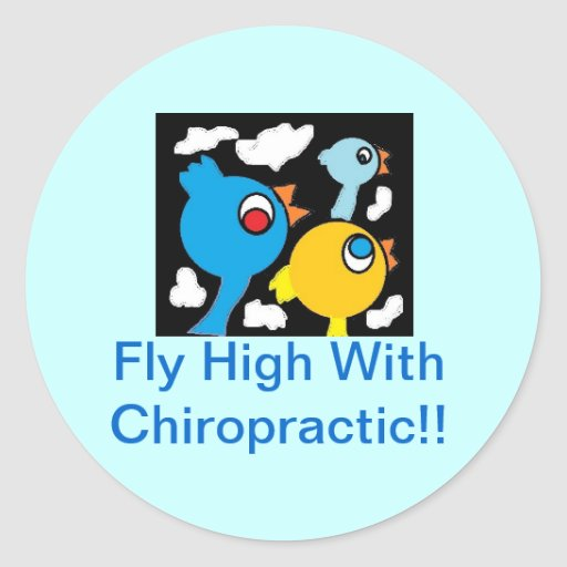 Fly High with Chiropractic Sticker