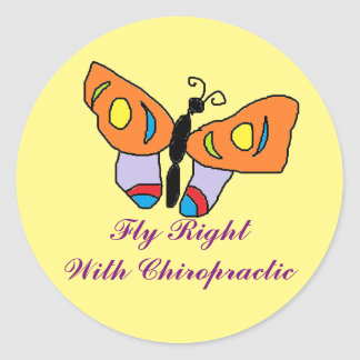 Fly Right Chiropractic Sticker