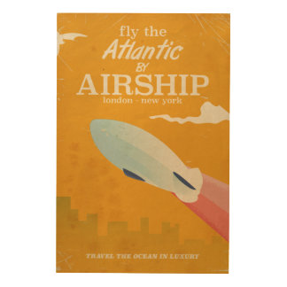 Fly the Atlantic by Airship Vintage print