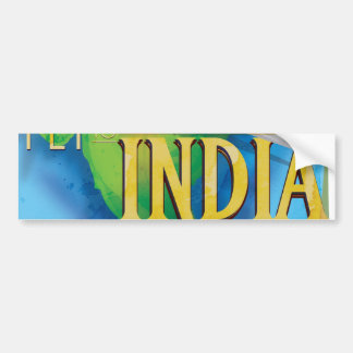 Fly To India Bumper Sticker