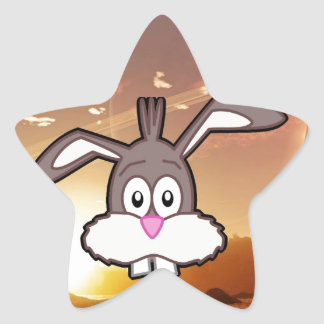Fly to love and peace Rabbit Star Stickers