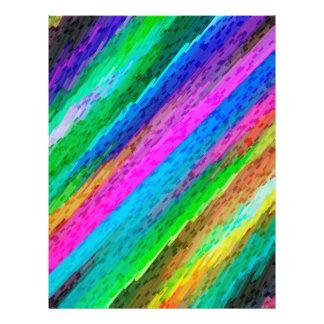 Flyer Colourful digital art splashing G478