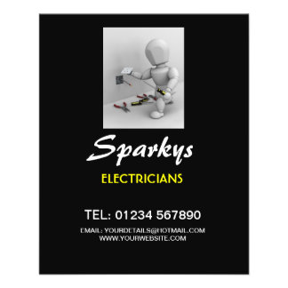 Flyer for Electricians business