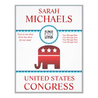 Flyer Template Republican Elephant