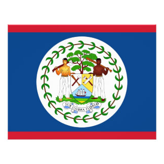 Flyer with Flag of Belize