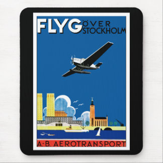 Flyg Over Stockholm Mouse Pad