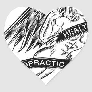 Flying Chiropractic Angel Heart Sticker