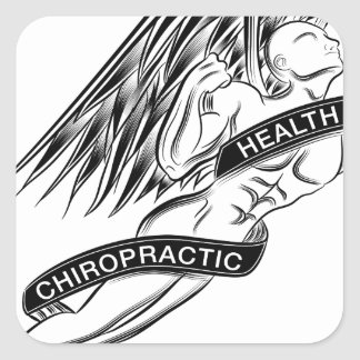 Flying Chiropractic Angel Square Sticker