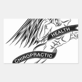 Flying Chiropractic Angel Rectangular Sticker