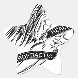 Flying Chiropractic Angel Star Sticker