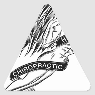 Flying Chiropractic Angel Triangle Sticker