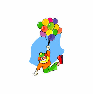 Flying Clown with Balloons Photo Cut Out