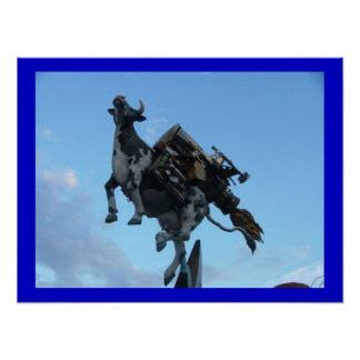 Flying Cow Poster