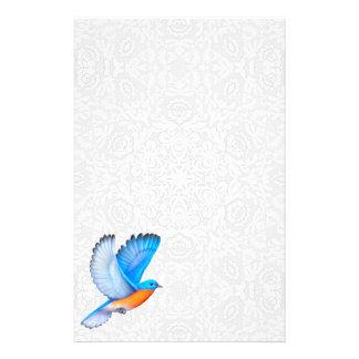 Flying Eastern Bluebird Stationery