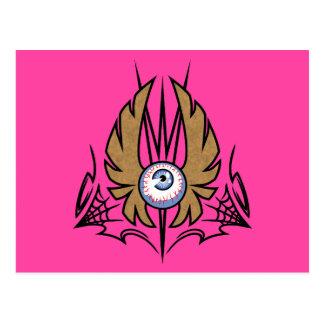 Flying Eyeball Postcard