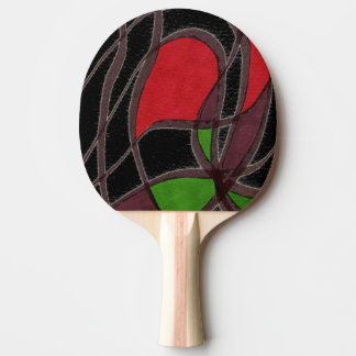 """Flying Fish - Black"" Abstract Ping Pong Paddle"