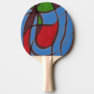 """""""Flying Fish - blue"""" Abstract Ping Pong Paddle"""