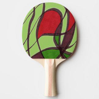 """Flying Fish - green"" Abstract Ping Pong Paddle"