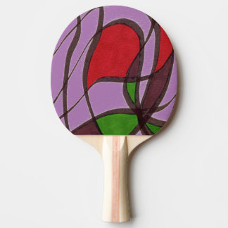 """""""Flying Fish - purple"""" Abstract Ping Pong Paddle"""
