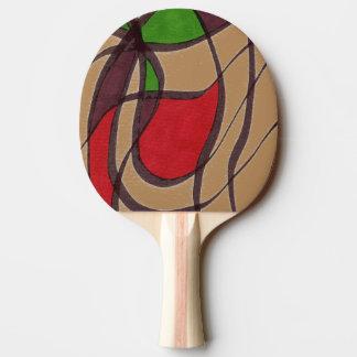 """""""Flying Fish - Tan"""" Abstract Ping Pong Paddle"""