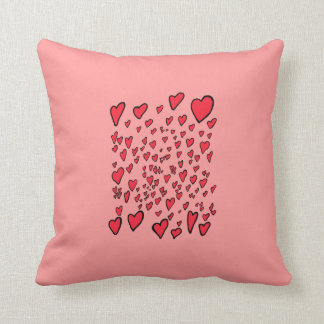 flying hearts pillows