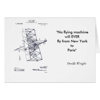 Flying Machine 1908 Greeting Card