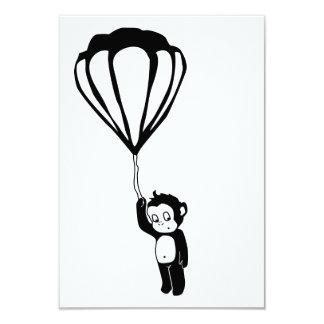 flying monkey : hot air balloon card