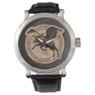 Flying Moose Aviation Patch Watch