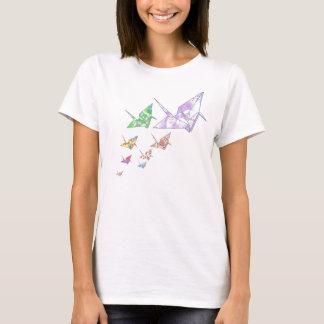 Flying Origami Paper Cranes T-Shirt