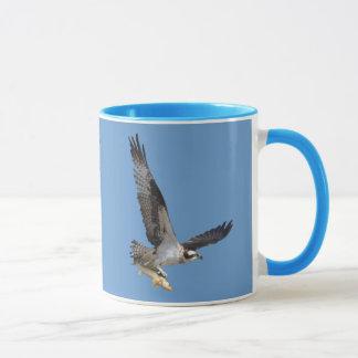 Flying Osprey & Fish Wildlife Photography Mug