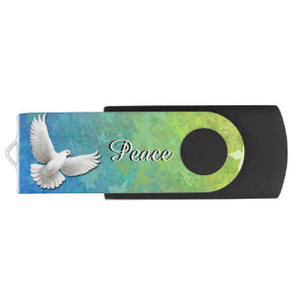 Flying Peace Dove 64GB USB Flash Drive Swivel USB 3.0 Flash Drive