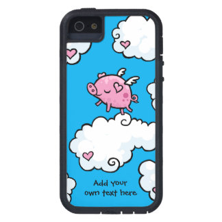 Flying Pig Dances on Clouds Customisable iPhone 5 Cover