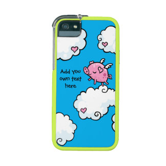 Flying Pig Dances on Clouds Customisable iPhone 5 Case