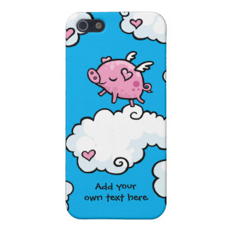 Flying Pig Dances on Clouds Customisable Cover For iPhone 5/5S